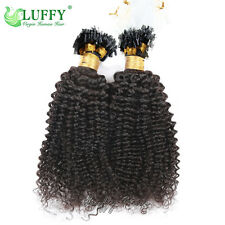 8A Brzilian Human Hair Kinky Curly Micro Loop Bead Hair Extensions 100G One Pack