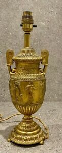 French Grand Tour Antique Solid Gilt bronze Ormalu Vase Lamp Early 19th Century