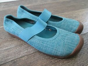 KEEN Sienna Canvas Mary Jane Walking Comfort Shoes 1004654 Womens Size 8 Blue