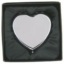 Personalised HEART Shaped Mirror FREE ENGRAVING Birthday Engagement Gift NEW