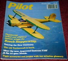 Pilot 1991 October Beech Staggerwing,Enstrom,Maule,Taylorcraft