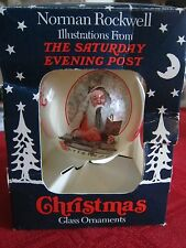 Norman Rockwell Saturday Evening Post Glass Ornament