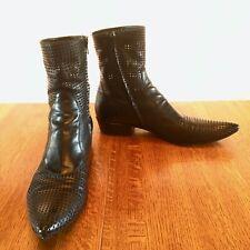 Men's Gianni Barbato Tall Perforated Zipper Boots - EU 44 US 11