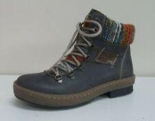 Rieker ladies grey/multi-coloured lace-up ankle boots, UK 4/EU 37, BNWB