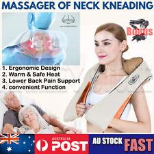 Shiatsu Neck Massager Electric Shoulder Kneading Cushion Home Car Infrared Heat