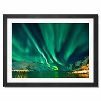 A3  - Aurora Borealis Northern Lights Framed Prints 42X29.7cm #14452