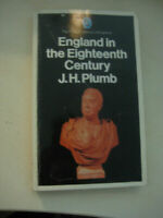 LIBRO: ENGLAND IN THE EIGHTEENTH CENTURY - J.H. PLUMB - INGLESE