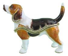 """Beagle"" Jewelled Dog Trinket Box or Figurine (3)  Approx 6.5cm High"