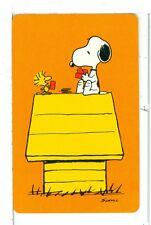 "Single Playing Card Pin Up ""Peanuts, Snoopy"" Hallmark 1607 N"
