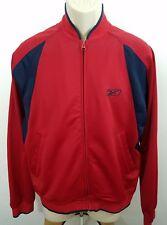 Reebok zip up track jacket Blood Red sz M 994