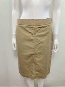 J Crew Women's Size 4 Solid Beige Knee Lenght Straight Skirt