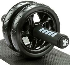 H&S Ab Abdominal Exercise Roller With Extra Thick Knee Pad Mat - Body Fitness