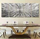 """MASSIVE 84""""× 36""""  Silver Metal Wall ART  Modern ART Abstract ART  by Jon Allen"""