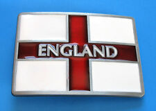 BRAND NEW ENGLAND ENGLISH COUNTRY STATE FLAG ST. GEORGE CROSS ENAMEL BELT BUCKLE