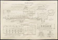Plan ancien d'usine hydro-électrique, la vis. 1909, Génie civil