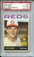 1964 Topps Baseball Card #125 Pete Rose All-Star Rookie Graded PSA VG EX+ 4.5