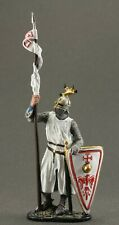 Painted tin toy soldiers figures 54 mm. West European Knight,