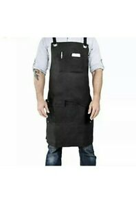New Armor Gear Durable Work Woodworking Apron Men Waxed Canvas  7 Pockets Black