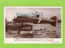 Italian Macchi 52 Schneider race waterplane  World Record Aviation unused RP pc