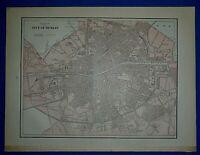 Vintage 1892 Atlas Map ~ DUBLIN, IRELAND ~ Old & Authentic ~ Free S&H