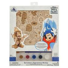 Disney Parks Ink & Paint Sorcerer Mickey 3D Wood Model and paint Set New Sealed