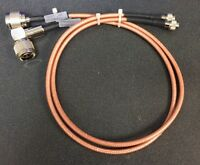 """Repeater Duplexer Cables Rg-142 Mini UHF male to Type N Male Teflon/Silver 24"""""""