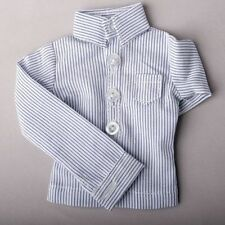 529# BlueVertical Stripe Boy Shirt/Clothes For 1/4 MSD AOD DOD DZ BJD Dollfie
