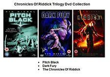 CHRONICLES OF RIDDICK TRILOGY DVD Part 1 2 3 Dark Fury Pitch Black Vin Diesel