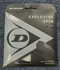 Dunlop Explosive Spin Black 17 Gauge 1.25mm Tennis String NEW