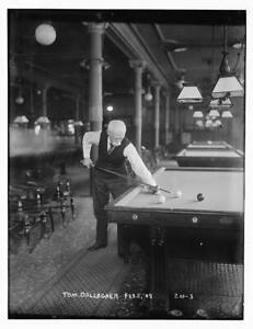 Photo:Tom Gallagher,February 1908,shooting pool,billiards,pool cue 6977