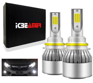 9004 HB1 LED COB Canbus 72W Hi/Lo Beam White Direct Install Headlight Bulbs H37