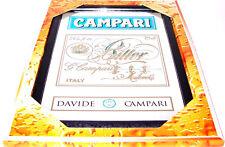 Campari Bitter Label Logo Nostalgie Barspiegel Spiegel Bar Mirror 22 x 32 cm