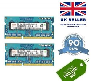 Joblot Laptop Notebook DDR3 PC3 10600S Memory RAM 10 X 2 GB 204 Pin Tested