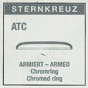 ATC Sternkreuz armierte Uhrenglas plexiglas für Armband Uhren Uhrengläser rund