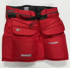 "New Vaughn V7 XF Pro Sr. Goalie Pants senior Large 38"" ice hockey goal Red"