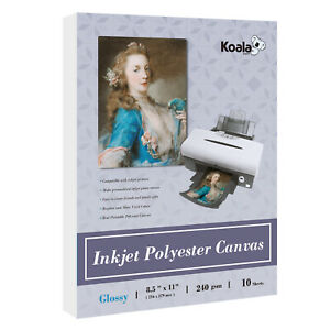 Printable Glossy Canvas Inkjet Printer Photo Paper 240g Eco Solvent Ink Textured