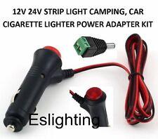 12V CIGARETTE LIGHTER ADAPTER STRIP LIGHT ON OFF SWITCH CAMPING CAR UTE 4WD