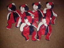 (1/2 )Dozen Ty Patriot Bear Regular Beanies*Retired*B-Day May 29,2000*R-F Flag@