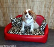 Zippy Faux Leather Dog Beds