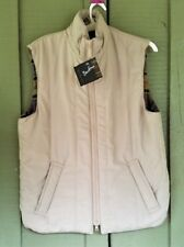 NWT BARBOUR Mens Beige Quilted Waistcoat Gilet Vest Small S D923