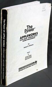Apple II IIe IIc IIgs The Power of AppleWorks Missing Front Cover Book