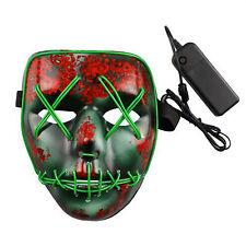The Purge Wahl Jahr Film Party Halloween Rave Maske Fest LED Beleuchtung Maske