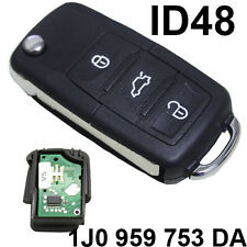 FOR VW SKODA SEAT 434 MHZ THREE 3 BUTTON FLIP KEY FOB BLANK BLADE WITH ID48 K17