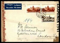 Switzerland St Gallen to London 1943 Double censored Airmail cover