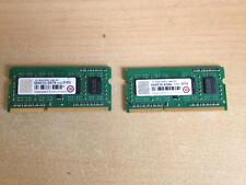 TRANSCEND 2 BARRETTES DE 1 Go (2 Go AU TOTAL) DDR3 RAM, 1600 MHz, SO-DIMM
