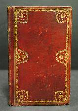 Roter Lederband um 1810 mit reicher Vergoldung und Goldschnitt