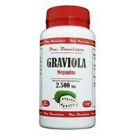 GRAVIOLA  2.500 mg.  60cps  Envio urgente gratis Dra. BANNISTER