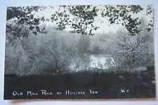 Old Mill Pond at HOLIDAY INN, Whitehall, Michigan postcard RPPC