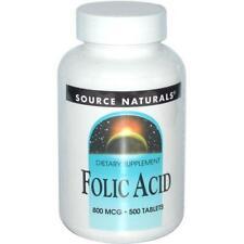 SOURCE NATURALS - Folic Acid 800 mcg - 500 Tablets