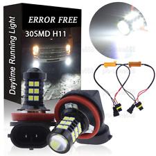 6000K White H11 H8 Car Truck Fog Lights LED Bulbs w/ Decoder CANBUS Error Free